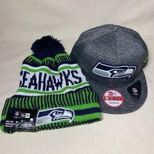 2 NFL Seattle Seahawks hats